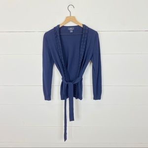 Brooks Brothers Wool Belted Cardigan Size XS
